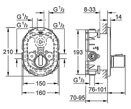 Термостат центральный Grohe Grohtherm2000 , фото 2