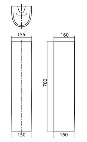 Пьедестал Kolo FREJA для комплектации с L71150,L71155,L71160 (укр.), фото 2
