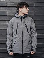 Чоловіча куртка Staff soft shell gray ros