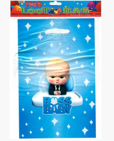 Пакет подарочный 25*16.5 см Босс молокосос полиэтилен