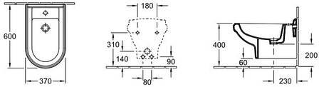 Биде Villeroy & Boch  HOMMAGE   подвесное 37*60см, фото 2