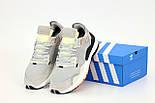 Мужские кроссовки Adidas Nite Jogger gray black Reflective. Живое фото (Реплика ААА+), фото 4