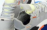 Мужские кроссовки Adidas Nite Jogger gray black Reflective. Живое фото (Реплика ААА+), фото 7