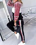 Костюм спортивный женский велюровый 42-44, 44-46, 48-50, 52-54, фото 4