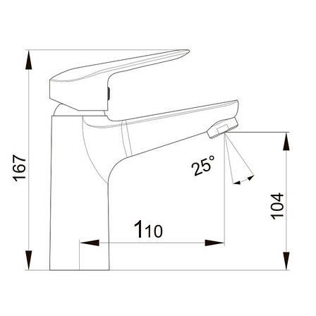 Смеситель для раковины Volle NEMO хром 35 мм, фото 2