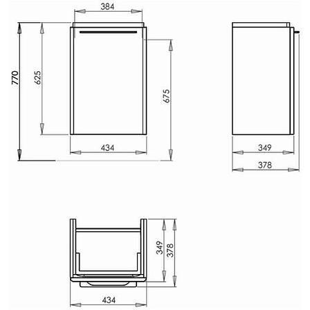 Шкафчик под умывальник Kolo TRAFFIC 43,4*6,5*34,9 см,белый глянец (пол.), фото 2