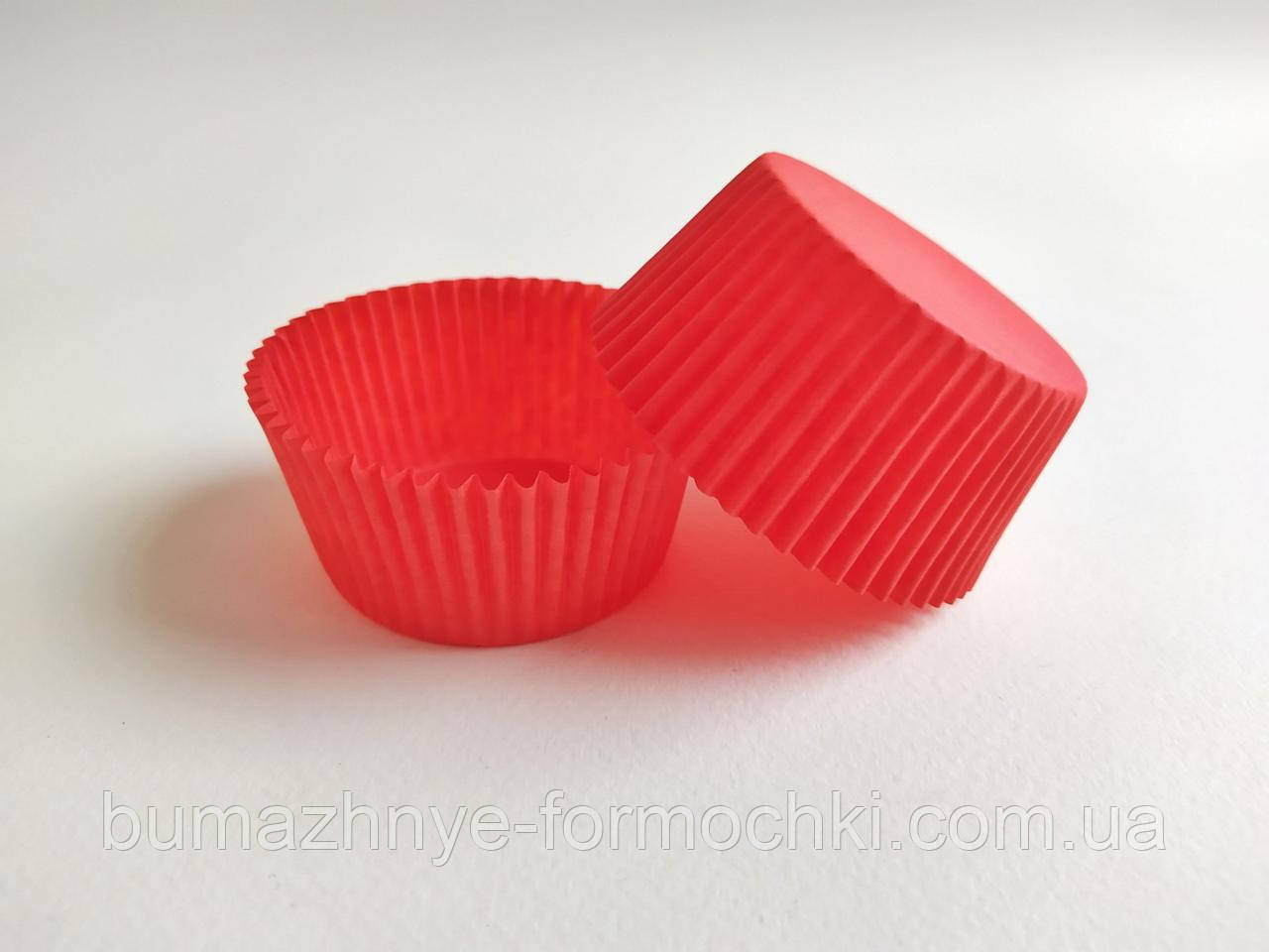 Бумажная формочка для кексов, красный, 55*42.5 мм