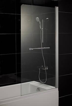 Штора на ванну Eger 80*150, стекло прозрачное, правая, фото 2