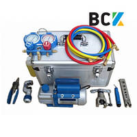 Набор инструмента для монтажа кондиционера Ice Loong TK-8A в чемодане - манометр труборез вальцовка вакуумник