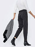 Укороченные зауженные брюки в полоску, фото 3