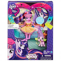 Hasbro Кукла и питомец Twilight Sparkle Spike The Puppy серия Радужный рок - Пижамная вечеринка