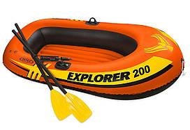Двухместная надувная лодка Intex Explorer 200 Set с веслами и насосом (58331)