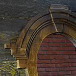Зеркало в деревянной раме в лофт стиле клен, фото 2