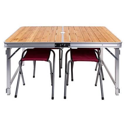 Стол раскладной туристический для кемпинга GreenCamp GC-9001 и 4 стула, фото 2