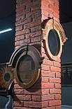 Зеркало в деревянной раме в лофт стиле орех, фото 2
