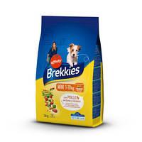 Сухой корм Brekkies Dog Mini 3 кг. для взрослых собак маленьких пород