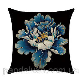 Наволочка для декоративної подушки 45х45 см Великий квітка
