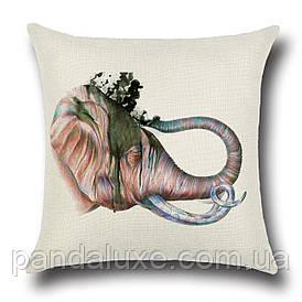 Наволочка для декоративної подушки 45х45 см Слон