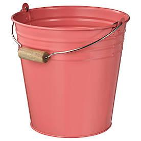 IKEA, SOCKER, Ведро/горшок, красно-розовый, 10 л (504.539.75)(50453975) СОКЕР ИКЕА