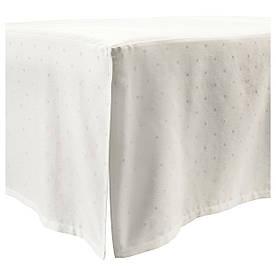 IKEA, LENAST, Оборка для кроватки, точечный, белый, 60x120 (604.576.28)(60457628) ЛЕНАСТ ИКЕА