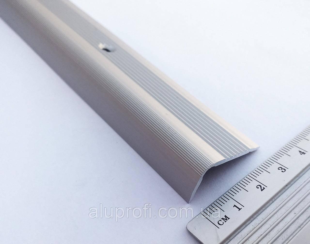 Поріг алюминіевий  ПАС-1540, кутовий, анодований 2.7м