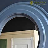 Круглое зеркало в деревянной раме Z-18102 серый, фото 2