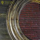 Круглое зеркало в деревянной раме Z-18101 дерево, фото 3