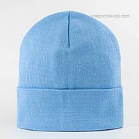 Детская вязаная шапка Окси голубая