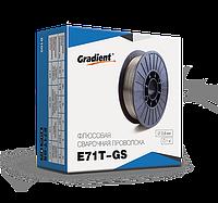 Флюсовая порошковая самозащитная проволока E71T-GS д.0,8мм упак. 1кг без газа Gradient