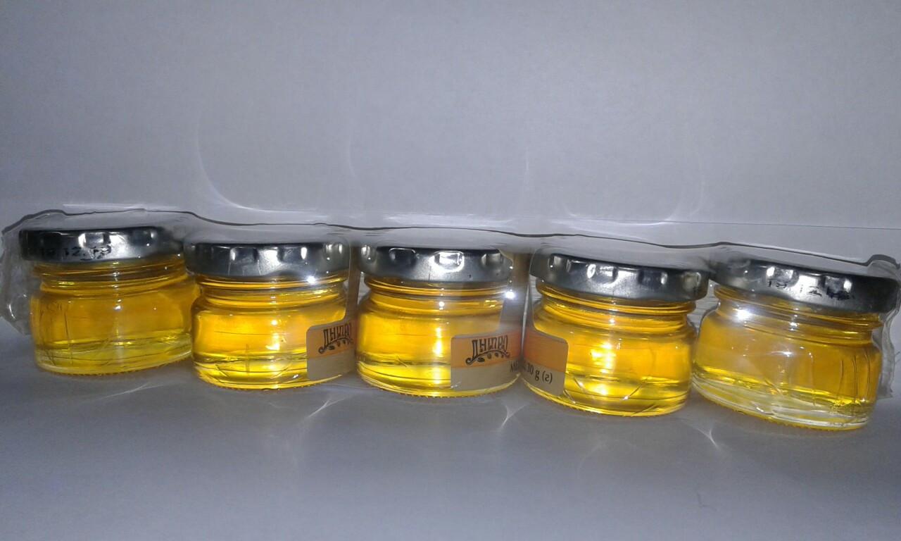 Мед разнотравье 5 баночек по 30 г