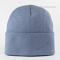 Вязаная шапка для мальчика Окси светлый джинс
