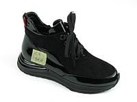 Спортивные женские ботинки W2126-2653AY BLACK LAK+ZAMSHA  весна 2020