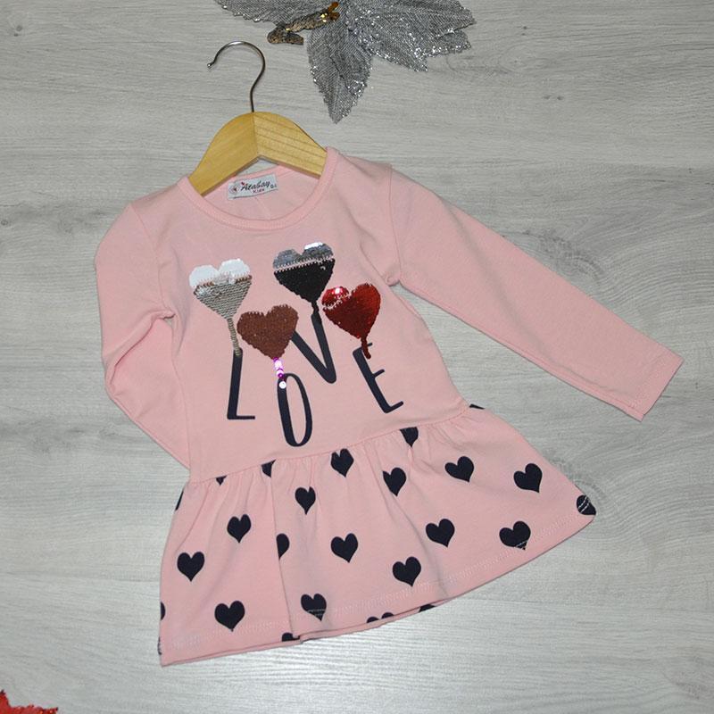 Детское трикотажное платье, размер 1-4 года (4 ед. в уп.) кремовый