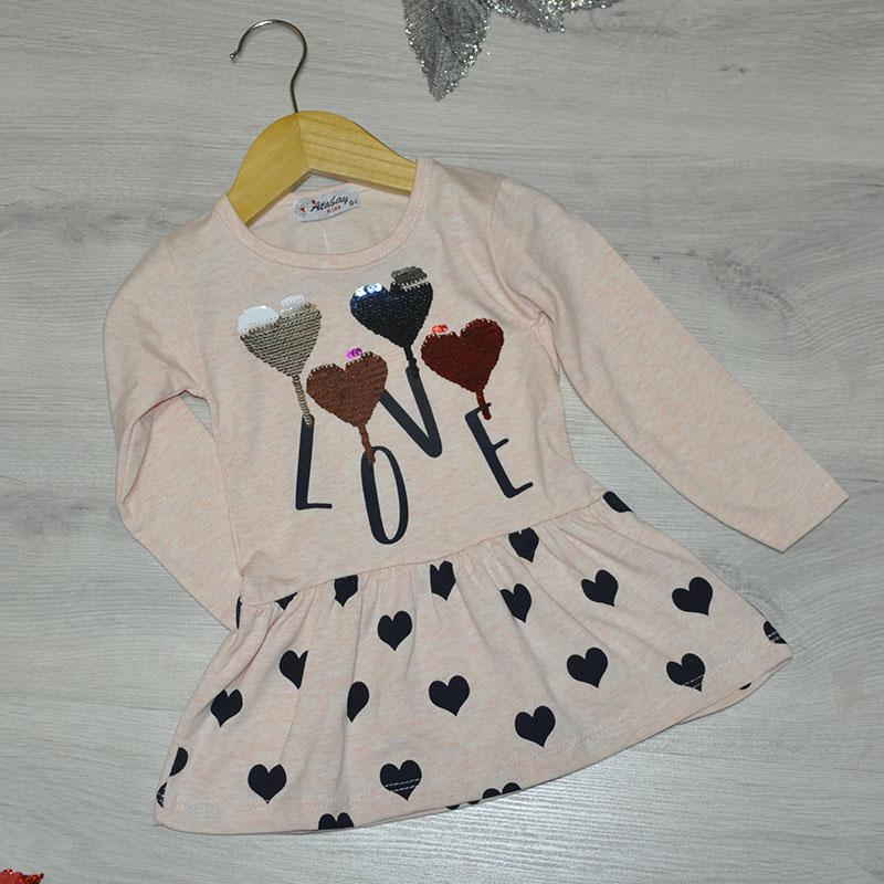 Детское трикотажное платье, размер 1-4 года (4 ед. в уп.) бежевый