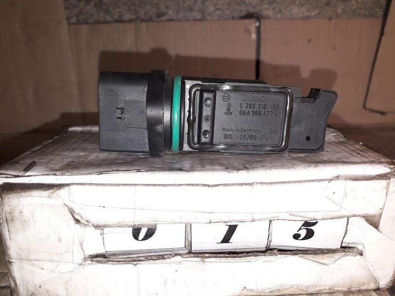 №15 Б/у Расходомер воздуха 0280218196   06A906473A для Golf IV,Bora,Škoda Octavia