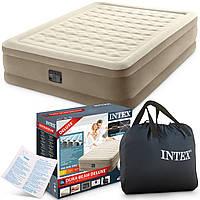 Надувная двухспальная кровать Intex 64428, 152*203*46см со встроенным насосом 220V