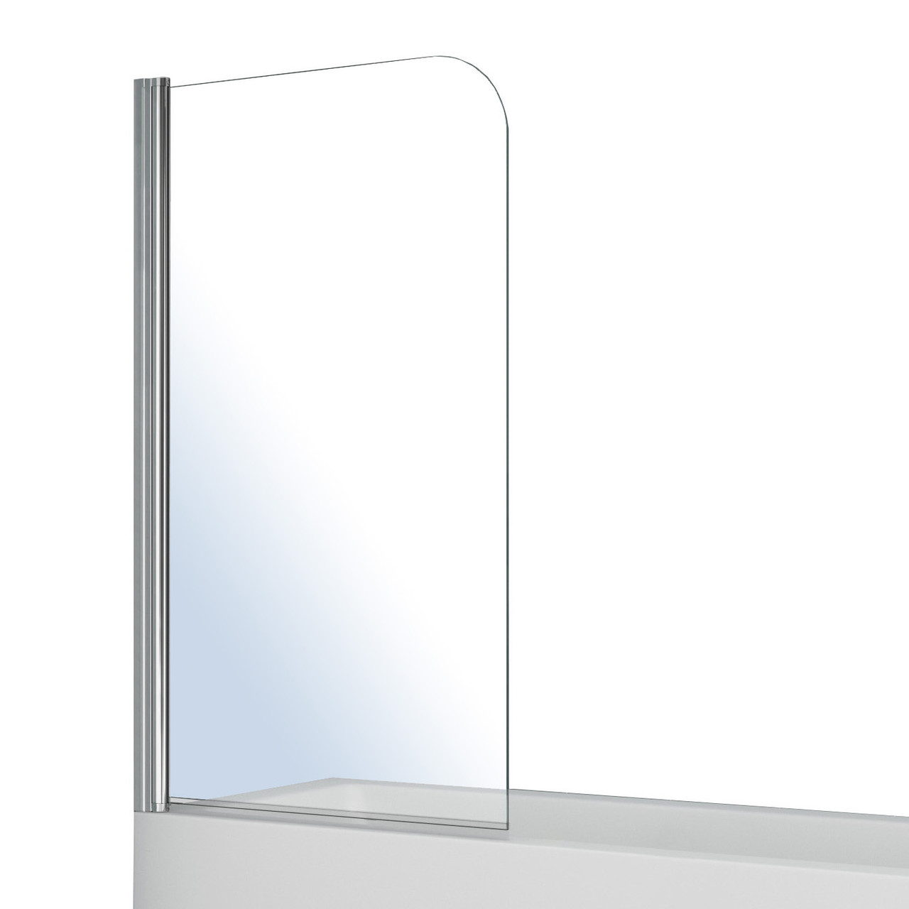 Штора на ванну Volle  односекционная 1400*800мм, поворот на 180°, прозрачное стекло 5мм