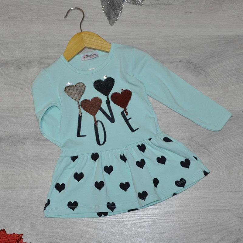 Детское трикотажное платье, размер 5-8 лет (4 ед. в уп.)
