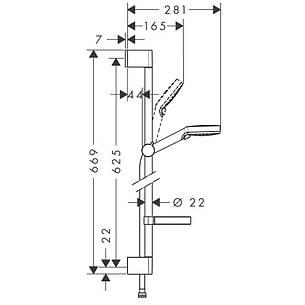 Logis Loop Набор смесителей для ванны, умывальник 100 (71151000+71244000+26553400), фото 2