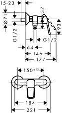 Logis Loop Набор смесителей для душа, умывальник 100  (71151000+71247000+26553400), фото 3