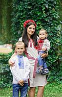 """Любимые клиенты компании МальваОпт в рубашке вышиванке для мальчика и веночке для волос """"Мальва красная""""!"""