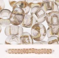 Бісер Preciosa Чехія №01113, світло-коричневий прозорий