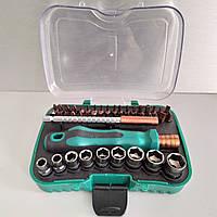 Набор головок и бит с рукояткой 47шт. LTL10056 в пластиковом кейсе, фото 1