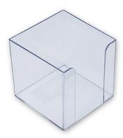 Подставка под бумагу для заметок  90х90х90 мм Прозрачный