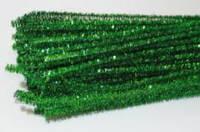 Синельная проволока зеленая с люрексом