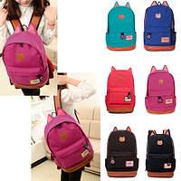 Молодежный Оригинальный Рюкзак с Ушками 9 цветов  ,высококачественный,  фабричный!