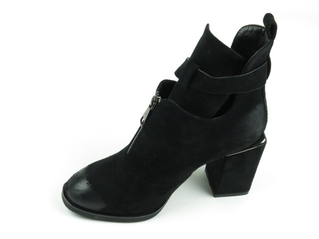 Замшевые демисезонные ботинки W2175-X992Y BLACK ZAMSHA  весна 2020
