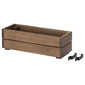 IKEA, STJARNANIS, Садовый ящик для цветов, акация, 43x15 (504.510.90)(50451090) СТЙАРНАНИС ИКЕА