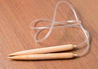 Спицы деревянные для вязания под толстую пряжу 18мм