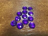 Акриловые стразы- полубусины 10Х3,5мм, фиолетовые